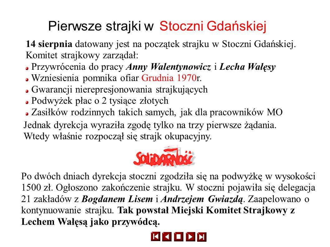 Pierwsze strajki w Stoczni Gdańskiej