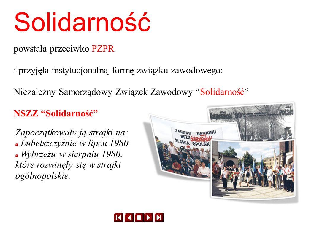 Solidarność powstała przeciwko PZPR