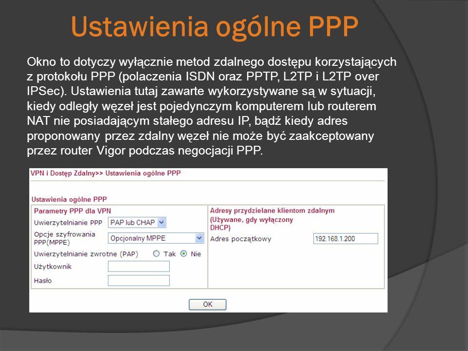 Ustawienia ogólne PPP