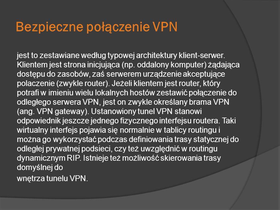 Bezpieczne połączenie VPN