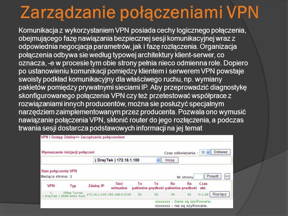 Zarządzanie połączeniami VPN
