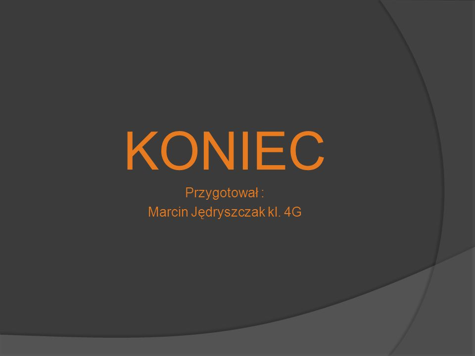 Marcin Jędryszczak kl. 4G