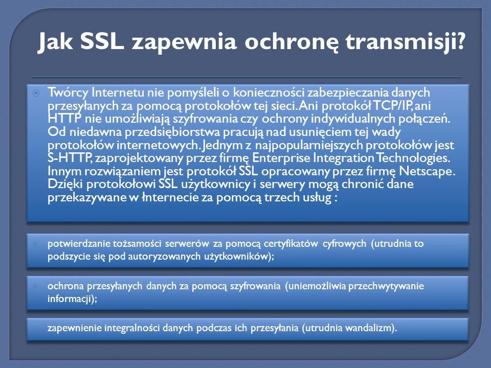 Jak SSL zapewnia ochronę transmisji