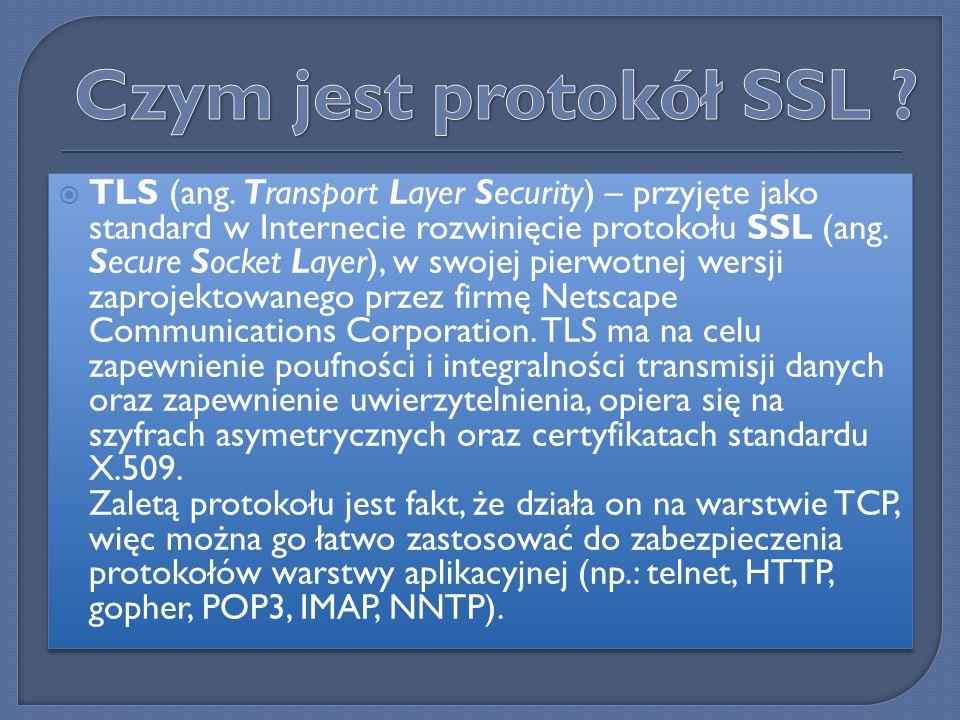 Czym jest protokół SSL
