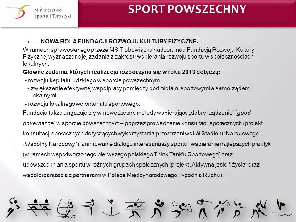 Sport Powszechny NOWA ROLA FUNDACJI ROZWOJU KULTURY FIZYCZNEJ