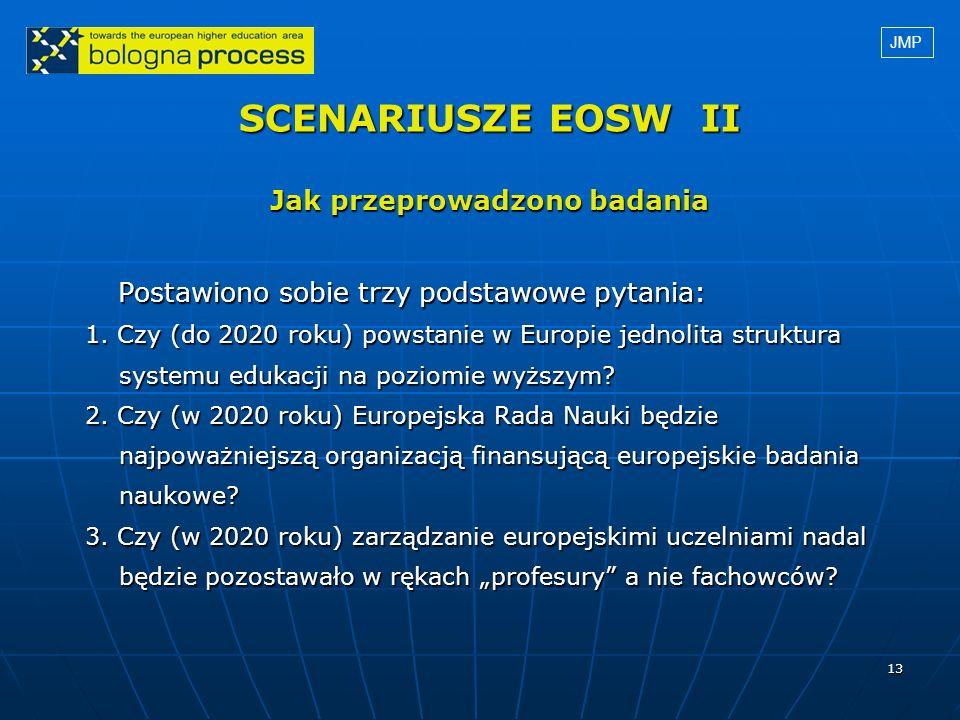SCENARIUSZE EOSW II Jak przeprowadzono badania