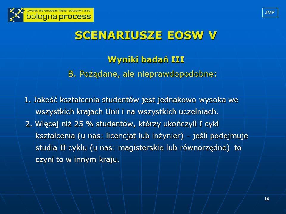 SCENARIUSZE EOSW V Wyniki badań III