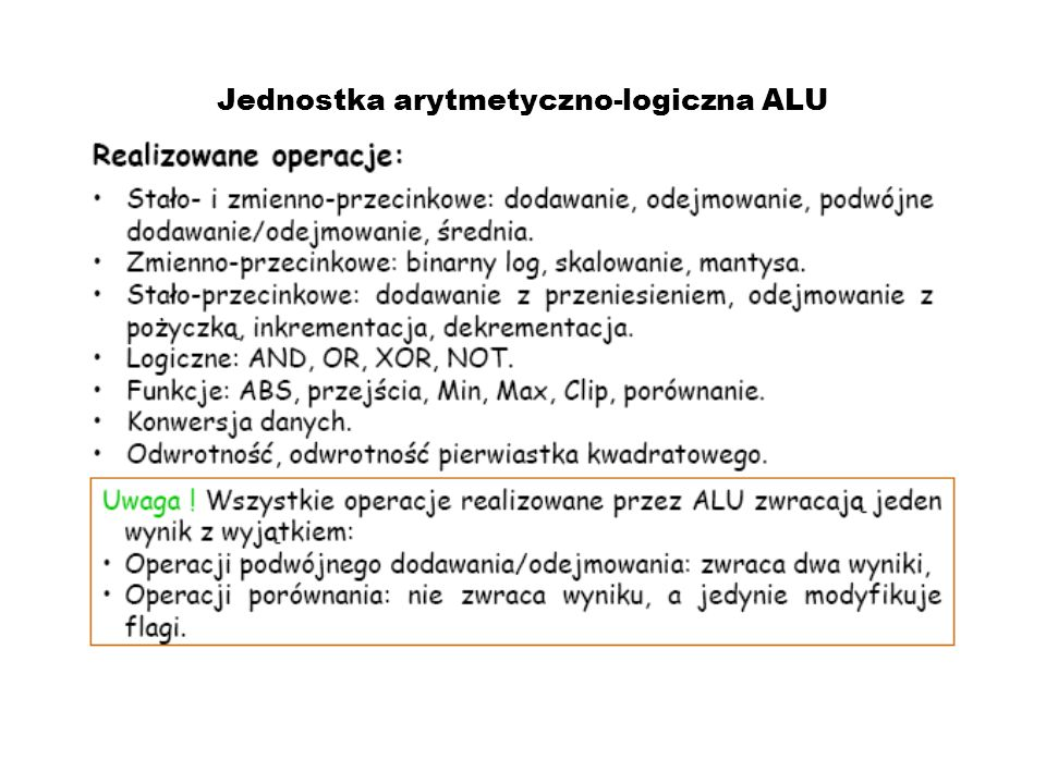 Jednostka arytmetyczno-logiczna ALU