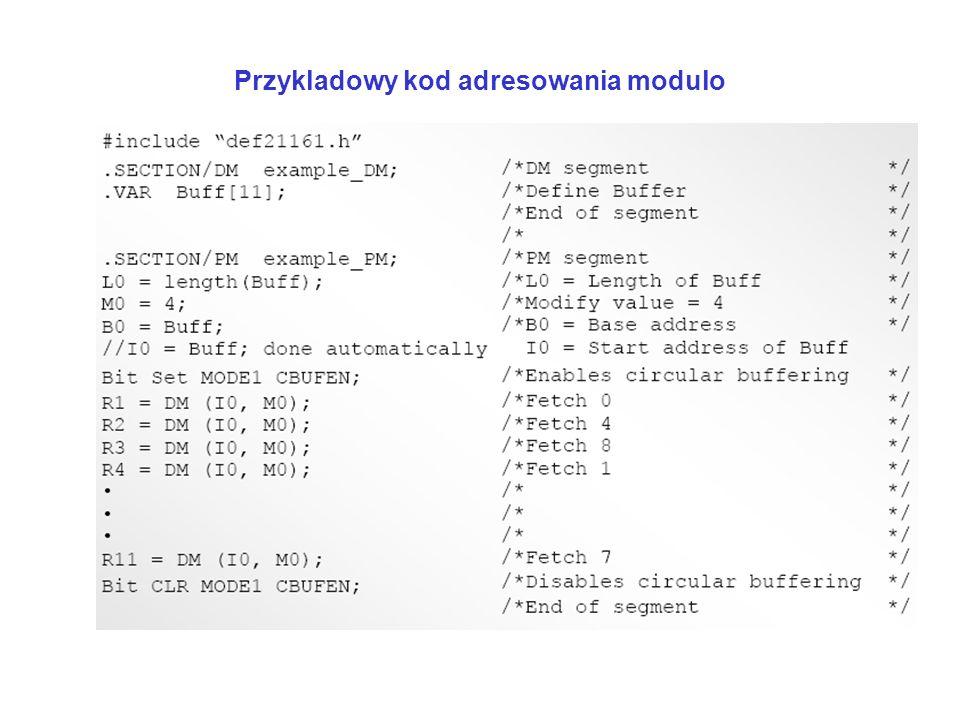 Przykladowy kod adresowania modulo