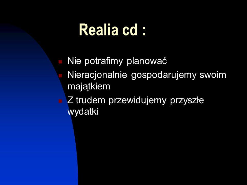 Realia cd : Nie potrafimy planować