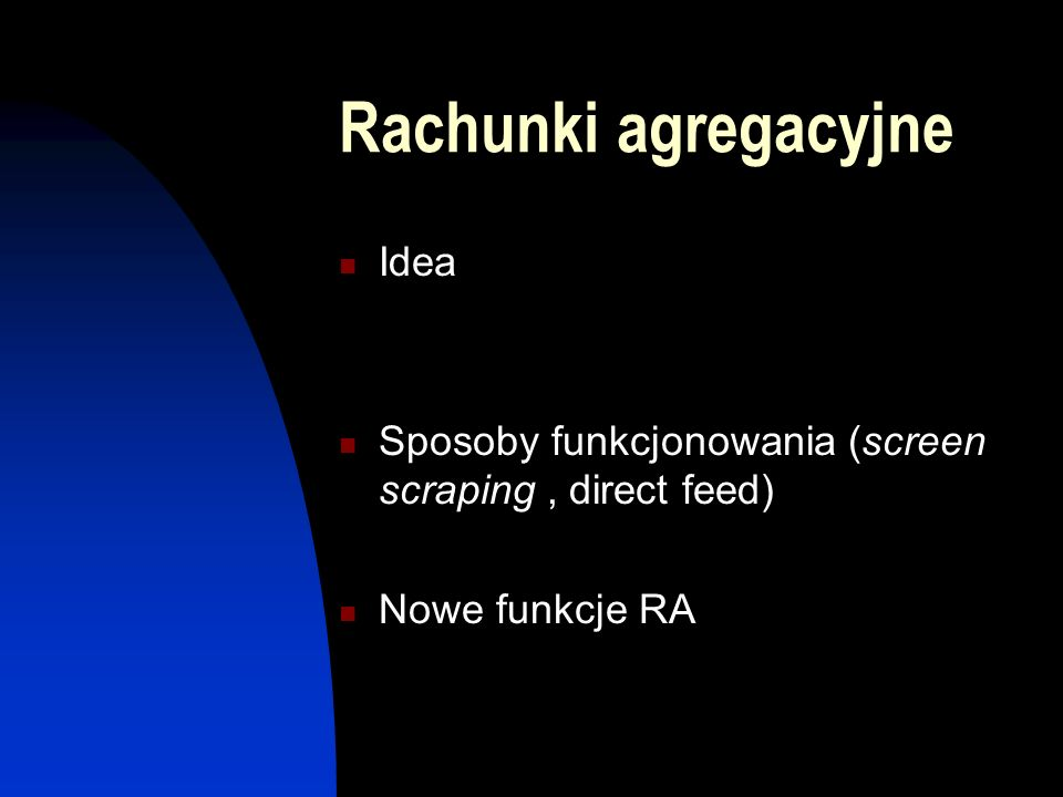 Rachunki agregacyjne Idea