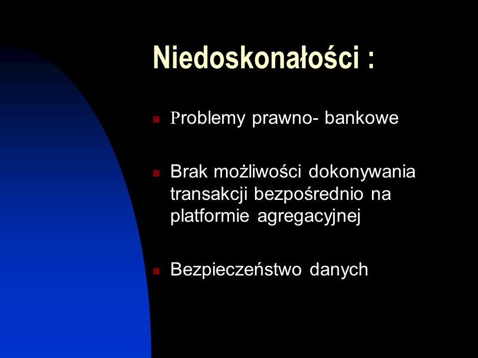 Niedoskonałości : Problemy prawno- bankowe