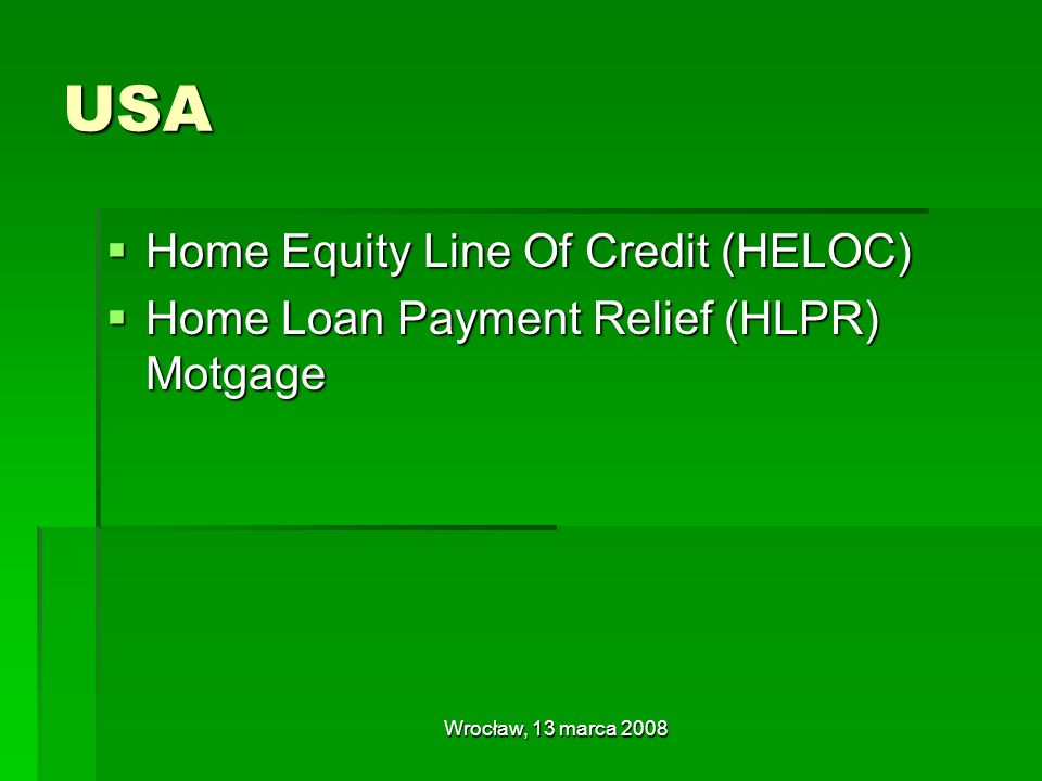 USA Home Equity Line Of Credit (HELOC)
