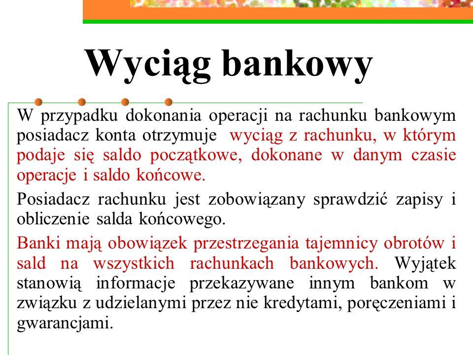 Wyciąg bankowy