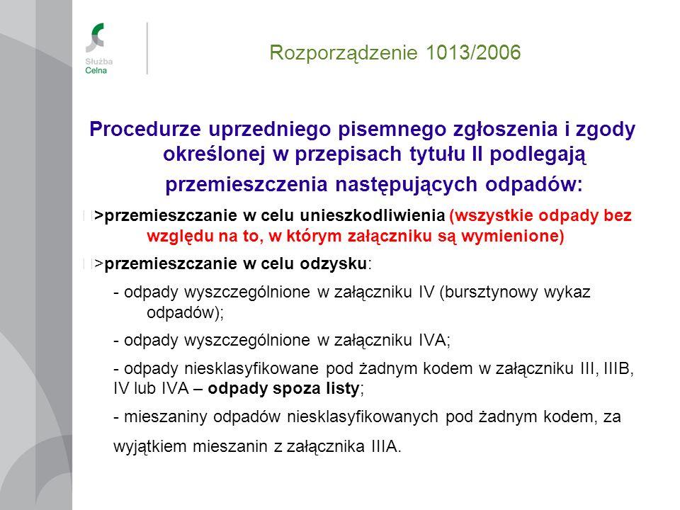 Rozporządzenie 1013/2006