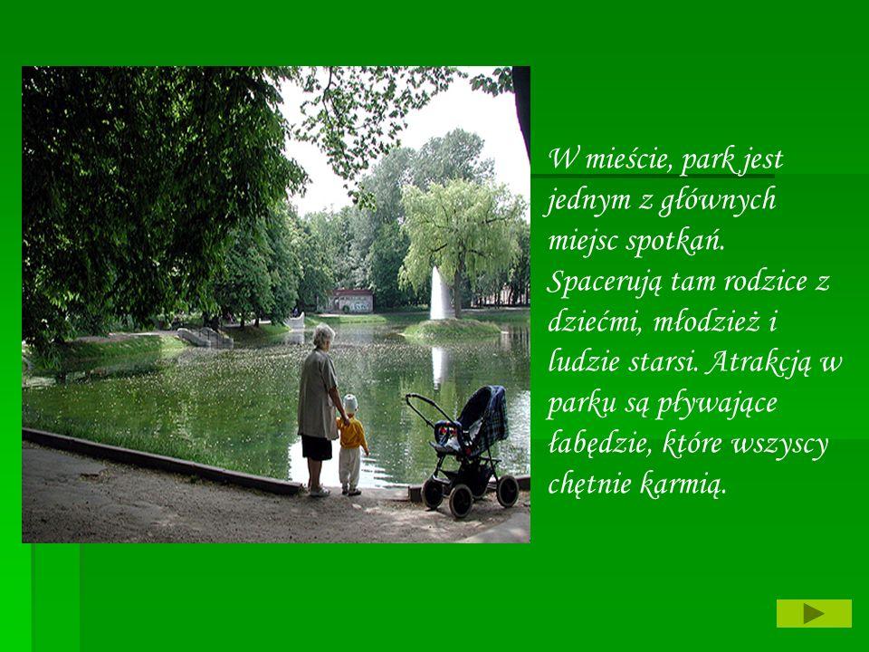 W mieście, park jest jednym z głównych miejsc spotkań