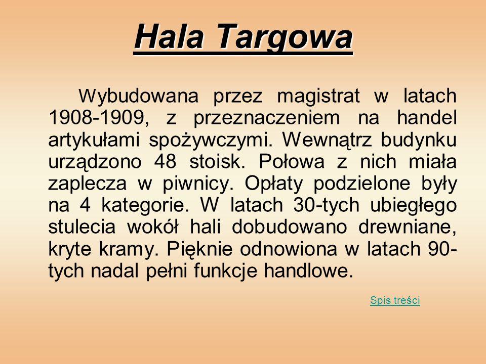 Hala Targowa Spis treści