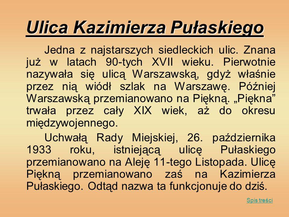 Ulica Kazimierza Pułaskiego