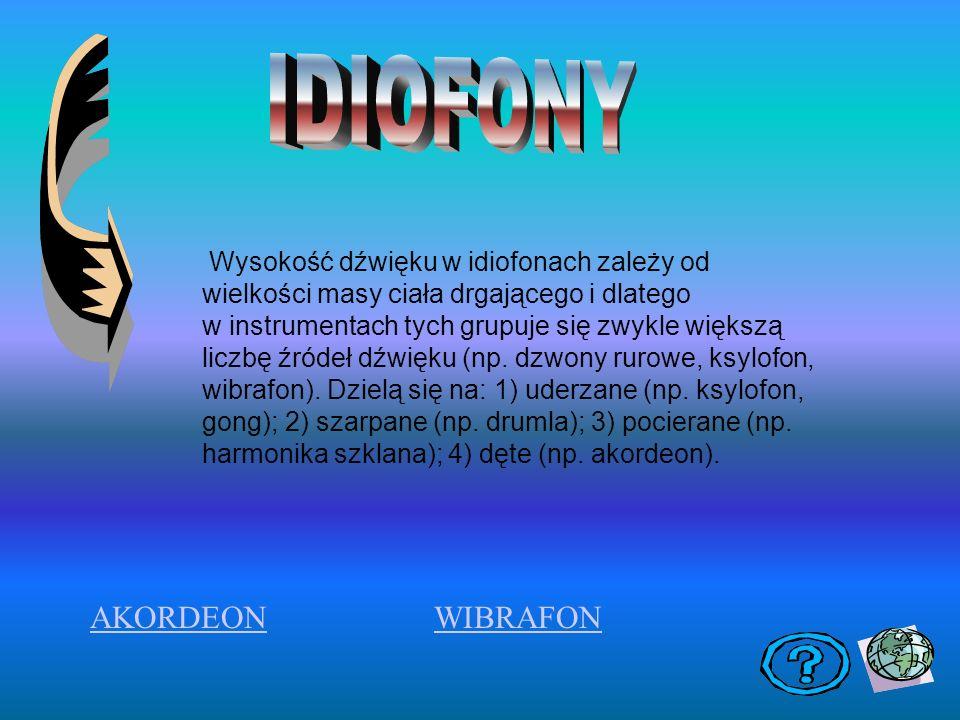IDIOFONY AKORDEON WIBRAFON