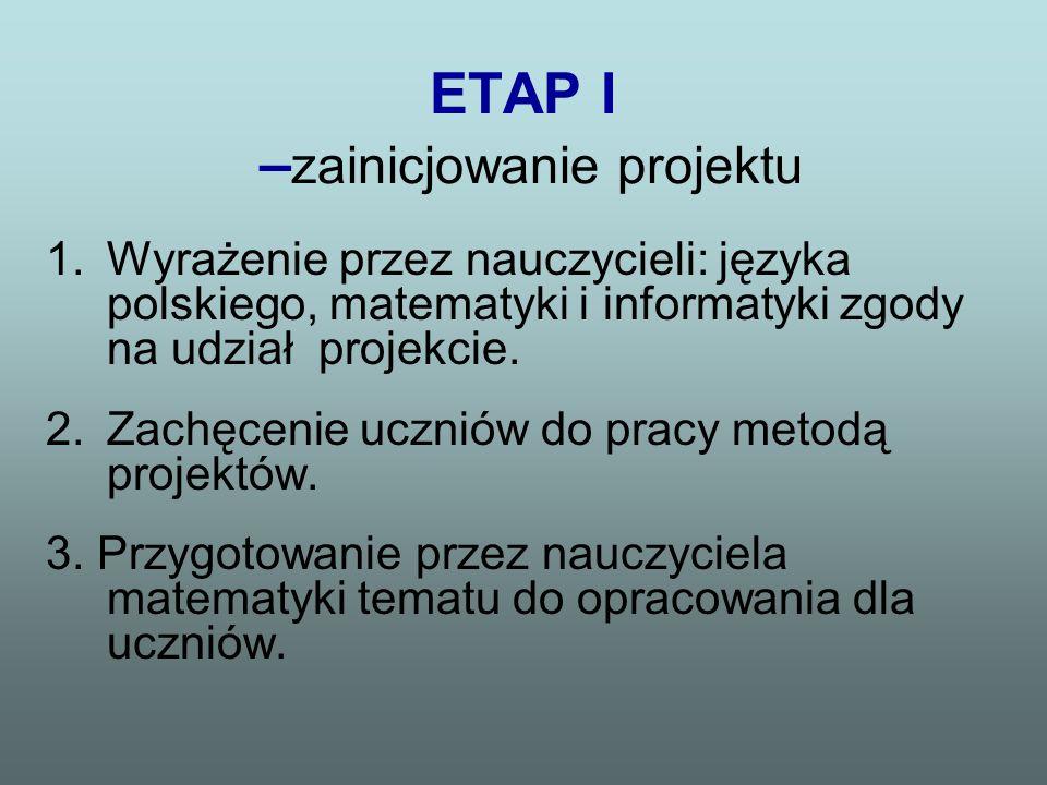 ETAP I –zainicjowanie projektu