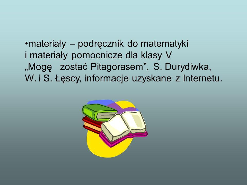 materiały – podręcznik do matematyki i materiały pomocnicze dla klasy V