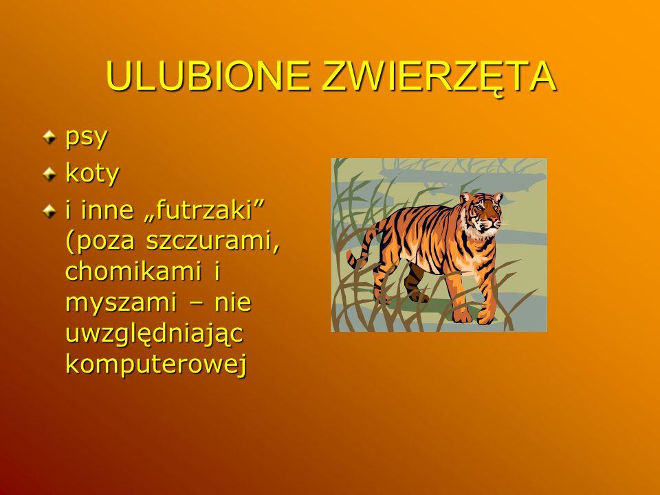 ULUBIONE ZWIERZĘTA psy koty