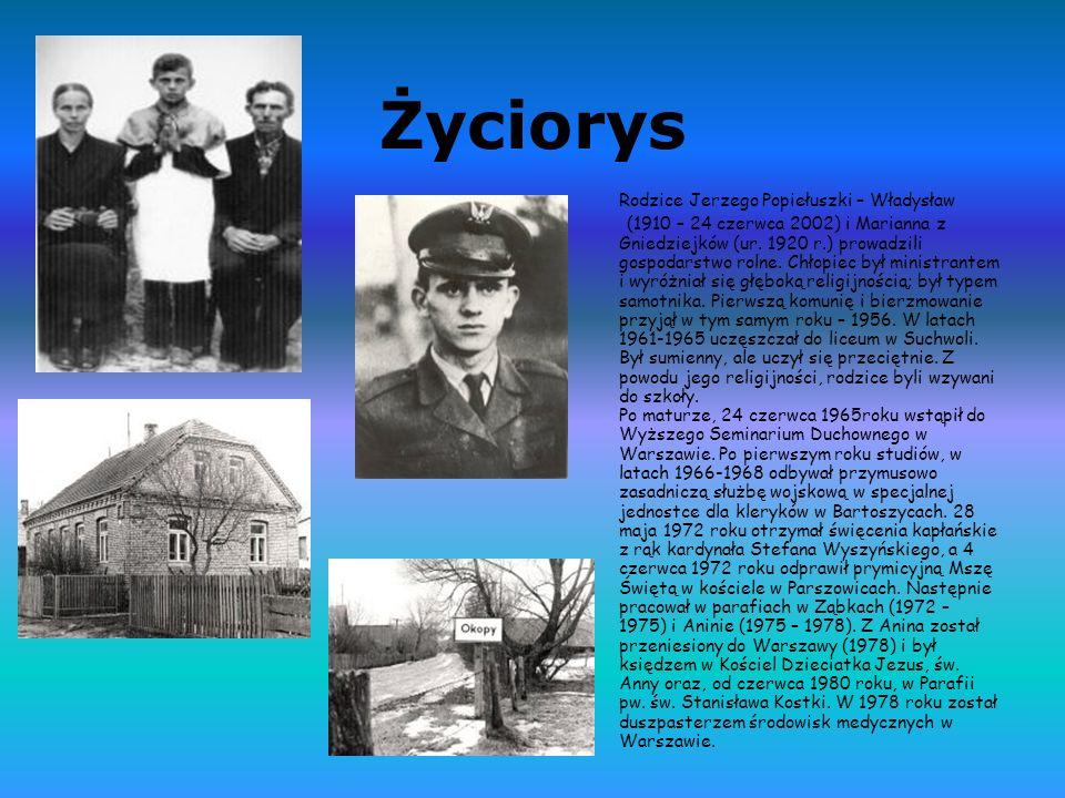 Życiorys Rodzice Jerzego Popiełuszki – Władysław