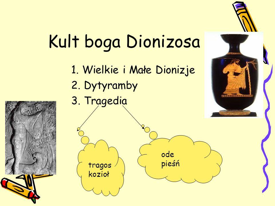 Kult boga Dionizosa 1. Wielkie i Małe Dionizje 2. Dytyramby