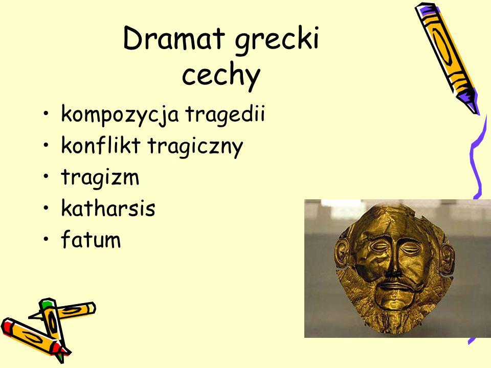 Dramat grecki cechy kompozycja tragedii konflikt tragiczny tragizm