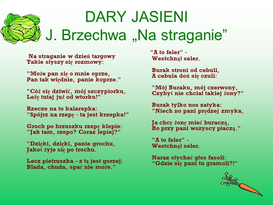 """DARY JASIENI J. Brzechwa """"Na straganie"""