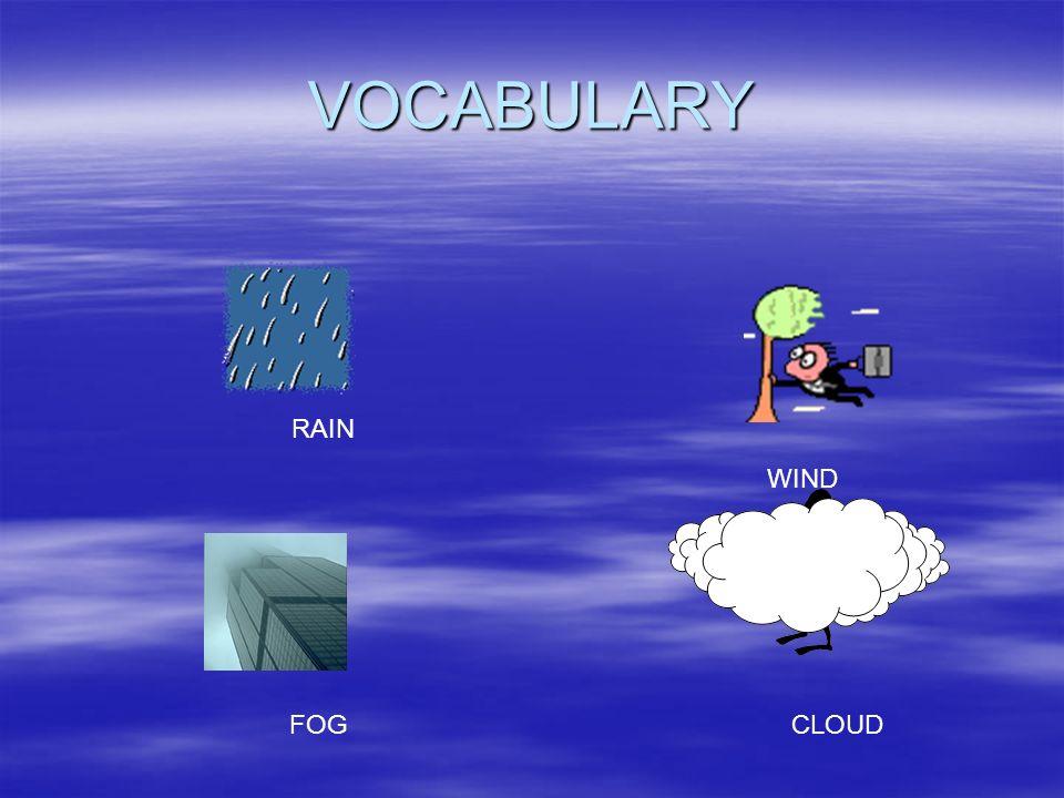 VOCABULARY RAIN WIND FOG CLOUD