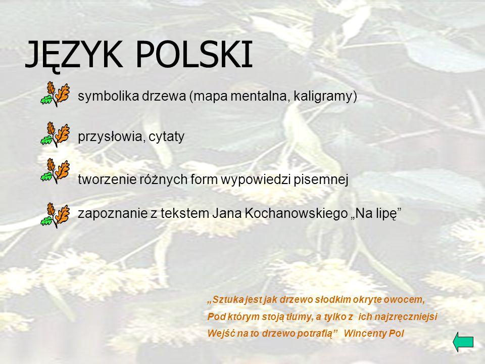 JĘZYK POLSKI symbolika drzewa (mapa mentalna, kaligramy)