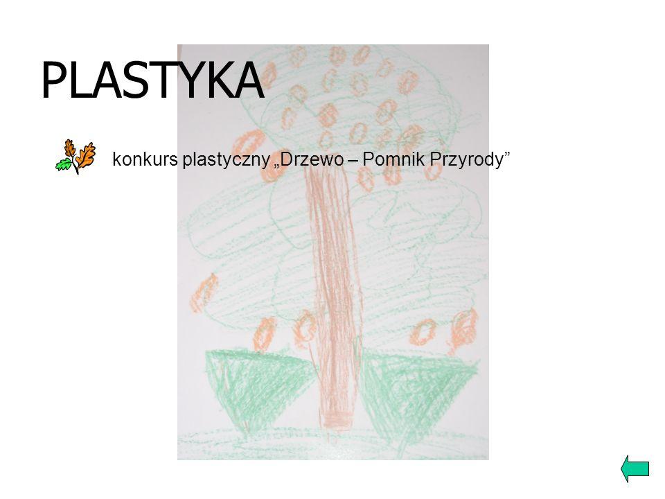 """PLASTYKA konkurs plastyczny """"Drzewo – Pomnik Przyrody"""