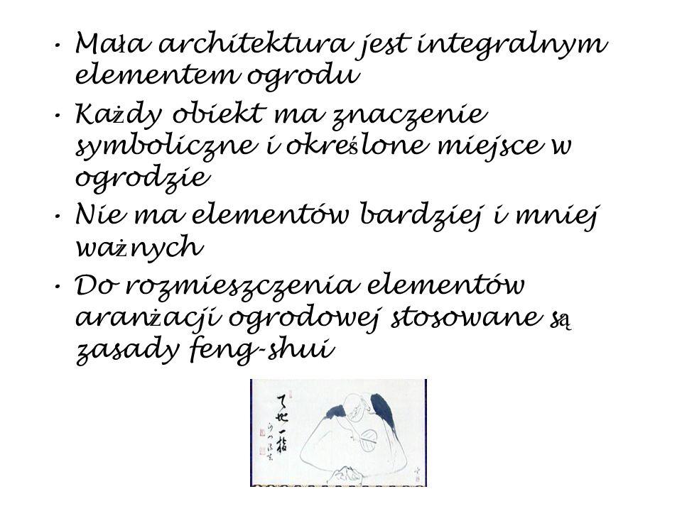 Mała architektura jest integralnym elementem ogrodu
