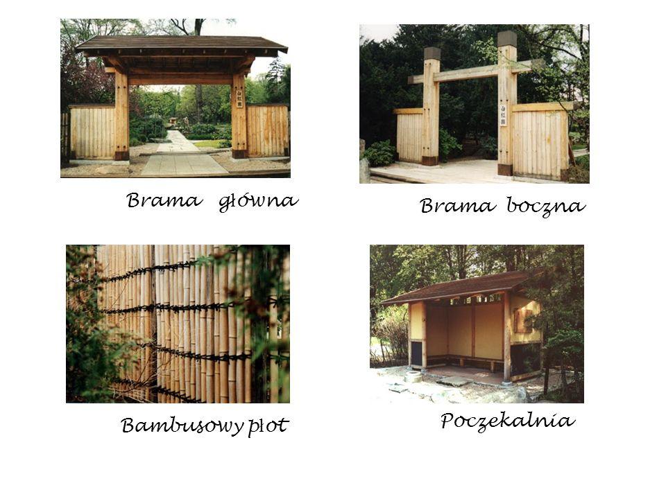 Brama główna Brama boczna Poczekalnia Bambusowy płot