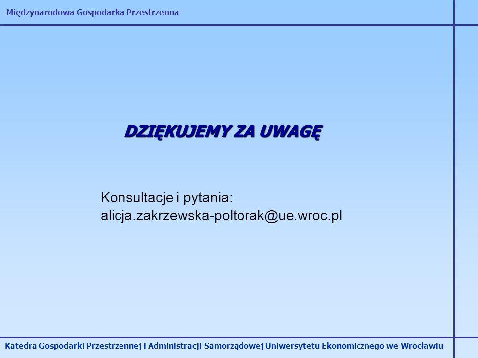 DZIĘKUJEMY ZA UWAGĘ Konsultacje i pytania: