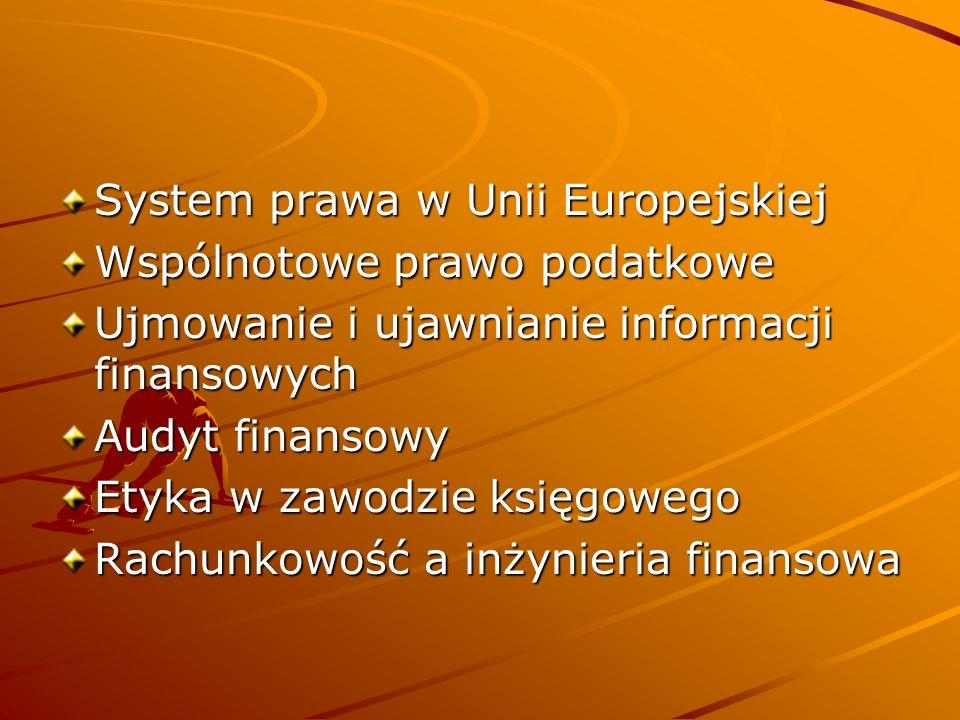 System prawa w Unii Europejskiej