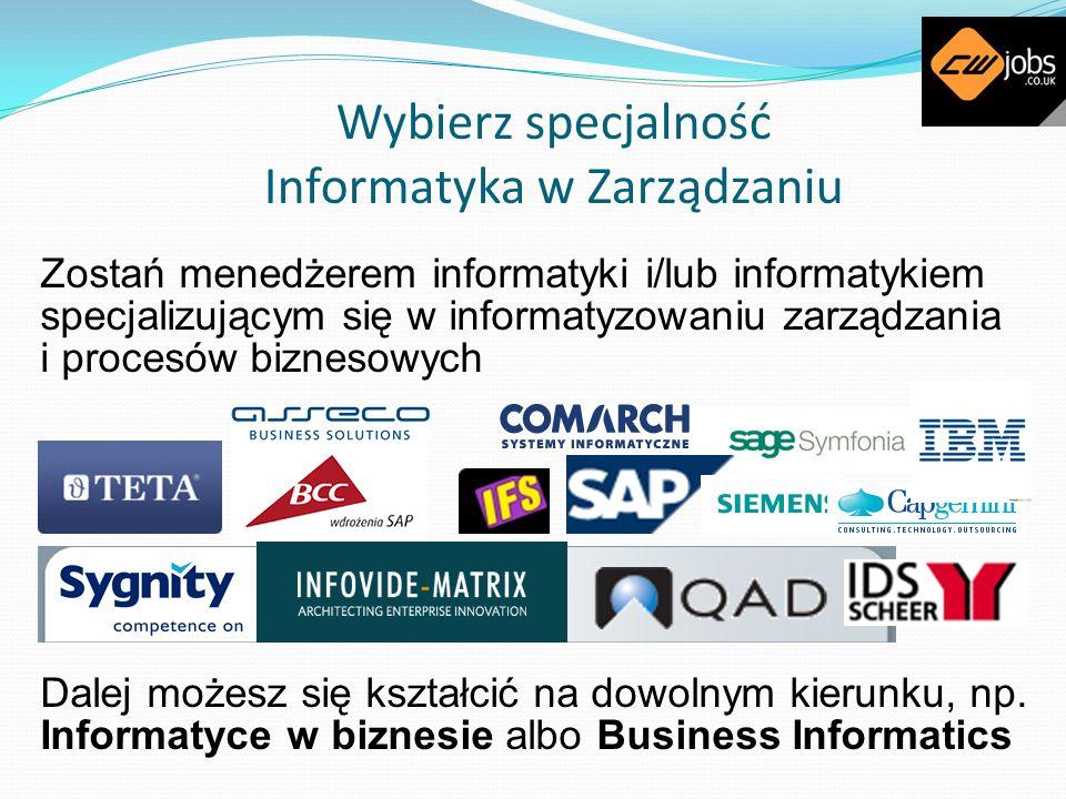 Wybierz specjalność Informatyka w Zarządzaniu