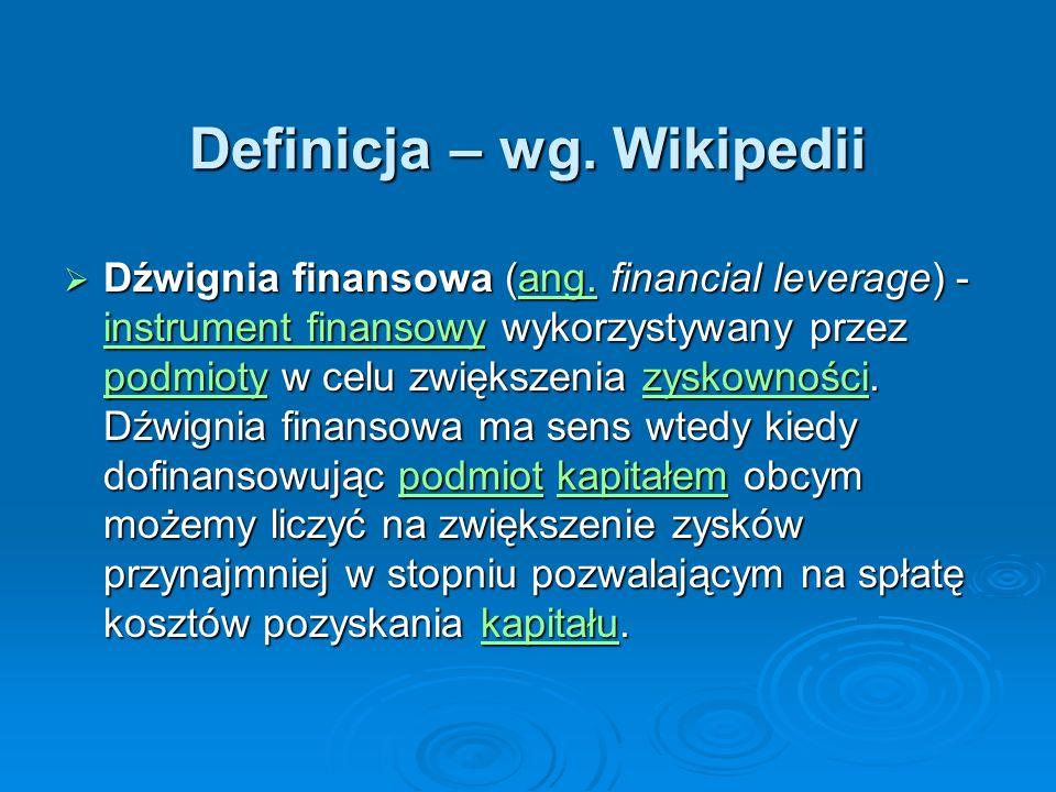 Definicja – wg. Wikipedii