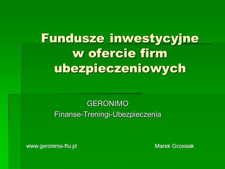Fundusze inwestycyjne w ofercie firm ubezpieczeniowych