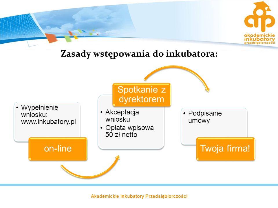 Zasady wstępowania do inkubatora: