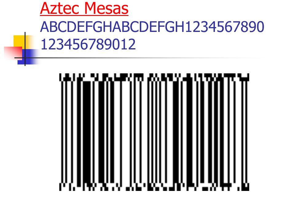 Aztec Mesas ABCDEFGHABCDEFGH1234567890 123456789012