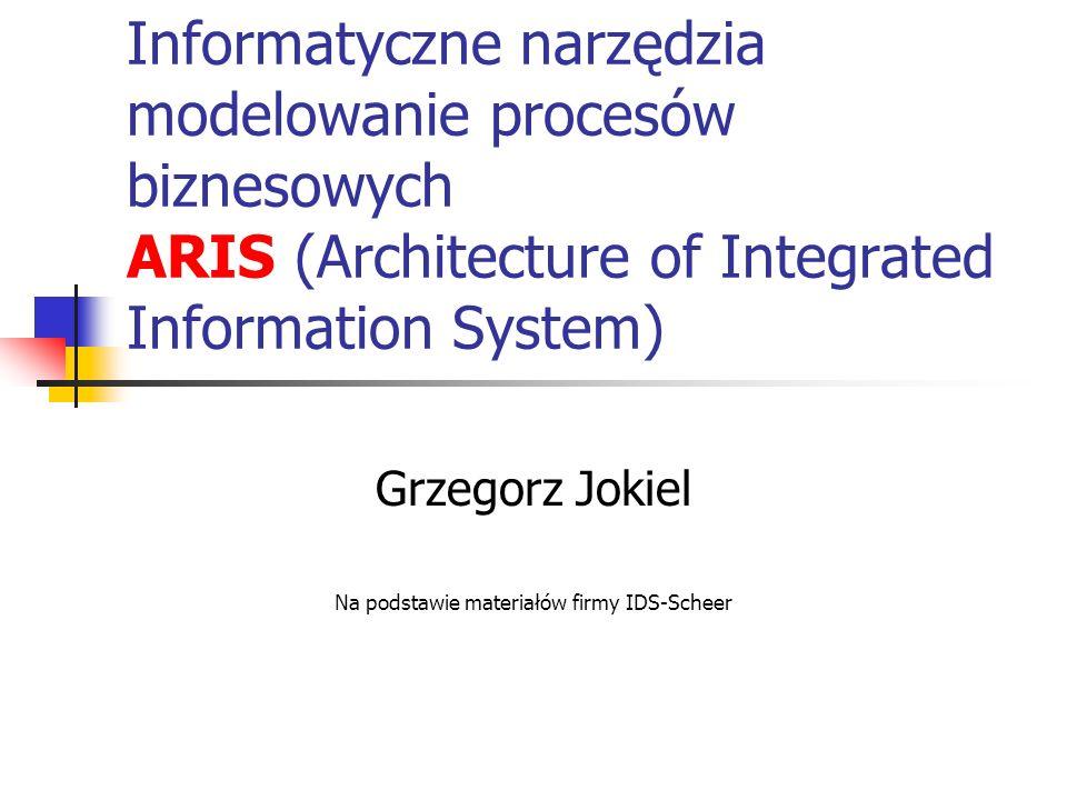 Grzegorz Jokiel Na podstawie materiałów firmy IDS-Scheer