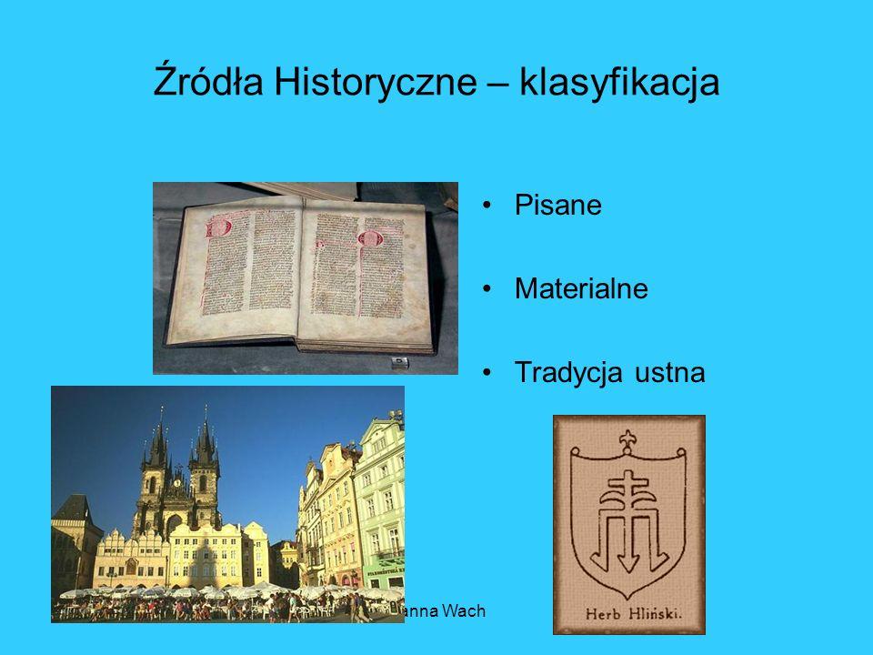 Źródła Historyczne – klasyfikacja