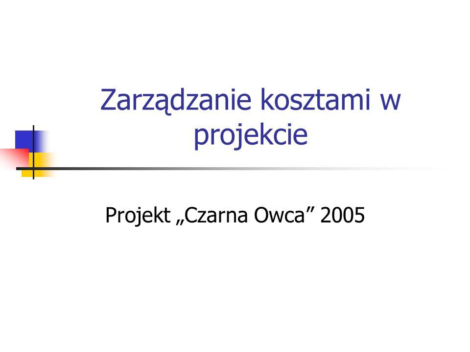 Zarządzanie kosztami w projekcie