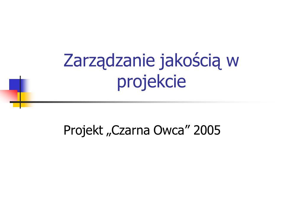 Zarządzanie jakością w projekcie