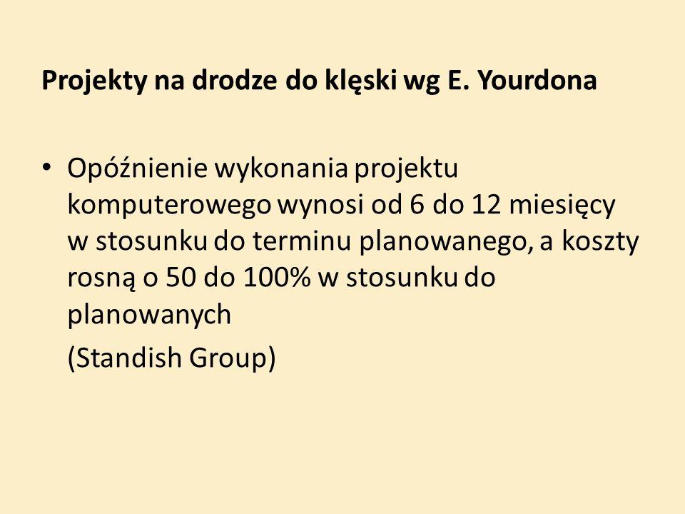 Projekty na drodze do klęski wg E. Yourdona
