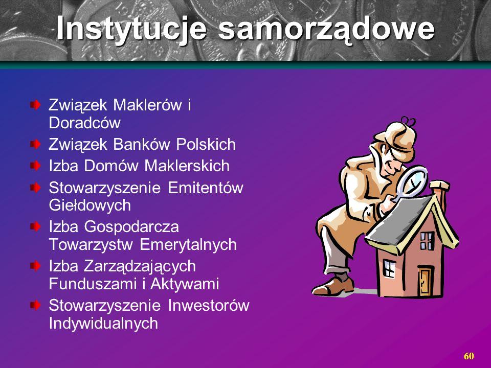 Instytucje samorządowe