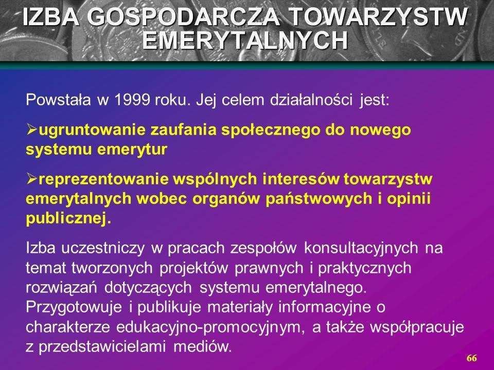 IZBA GOSPODARCZA TOWARZYSTW EMERYTALNYCH