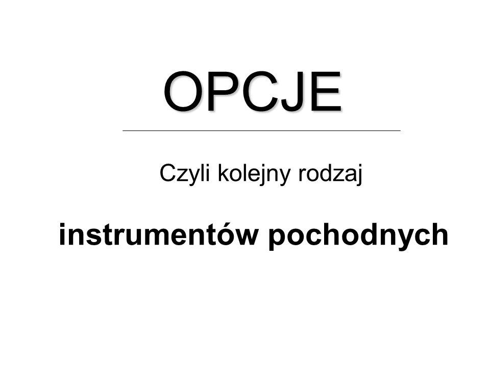 instrumentów pochodnych
